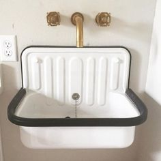 Alape Bucket Sink With Navy Trim In 2019 Home Sweet