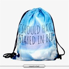 Bag Escolar Backpack Harajuku Drawstring Bag Galaxy 3D Printing Travel Softback Mochila Unisex Backpack Minina