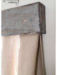 Reclaimed wood pallet idea.over bedroom windows