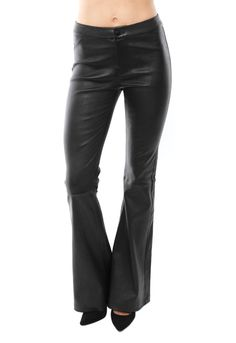 J Brand Vivia High Rise Leather Flare