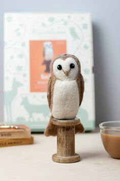 100% adorable, 100% made by you. Create this winter owl with a DIY kit needle-felting kit.