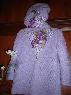 Baby coat and pants with embroidery - Home Moms