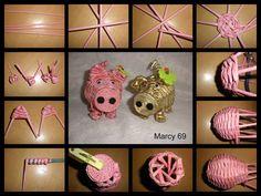 Návod na mini prase /Instructions for mini pig/ Straw Weaving, Paper Weaving, Basket Weaving, Newspaper Basket, Newspaper Crafts, Recycled Crafts, Diy Crafts, Corn Dolly, Diy Straw