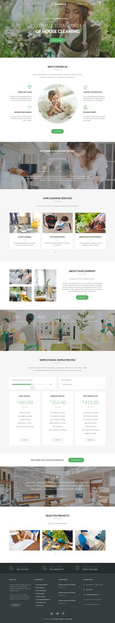 CleanMate is a responsive and retina ready HTML Template best suitable for cleaning company, laundry, gardener, car wash business, window cleaning, maid services, post renovation cleaning business and moving company.