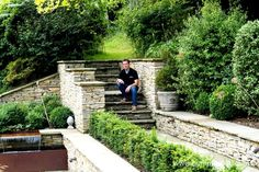 David Neale, pictured in August 2015, in a garden he designed and constructed in April 2013.