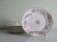 Vintage Buffalo Pottery Bread and Butter Plates by OneGirlsVintage, $16.00