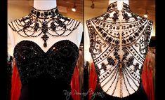 Black Red Carpet Gown-Illusion Back-115EC0151340572