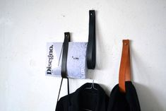 Simple leather strap hangers