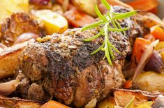 My slow cooker lamb roast makes the perfect Easter dinner. All you need is 6 ingredients and your slow cooker does all of the work for you! Lamb Recipes, Wine Recipes, Slow Cooker Recipes, Crockpot Recipes, Healthy Recipes, Slow Cooker Lamb Roast, Lamb Stew, Winter Dinner Recipes, Dinner Ideas
