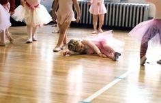 Adorable, sleepy ballerina