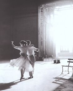 Audrey Hepburn dancing with Fred Astaire.