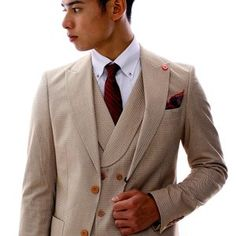 テーラードジャケット ベージュ セットアップ ジレ ブルー ダブル メンズ チェック ブレザー 春秋冬 ジャケパン 大きいサイズも入荷 Double Breasted Suit, Suit Jacket, Suits, Jackets, Fashion, Down Jackets, Moda, Fashion Styles, Suit