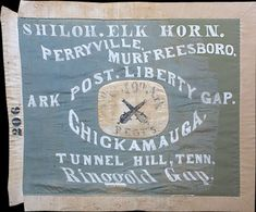 Hardee pattern battle flag of the & Arkansas Infantry in Daniel C. Govan's Brigade captured the guns of Battery A, Michigan Light Artillery and the Indiana Light Artillery near the Winfrey Field at Chickamauga, Sept.