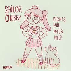 "@frannerd's photo: ""Yes, I would be Sailor Chubby"""