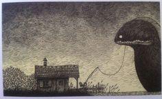"John Kenn Mortensen drawings from his book ""Sticky Monsters"" (6 pics)"