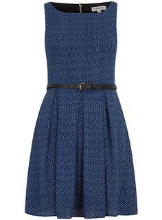 Blue print 50's flare dress