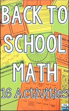 Back to School Math Activities: Get-to-know-you activities for beginning of year that help create a positive classroom climate through cooperative learning and allow students to pre-assess basic math skills to start the school year.