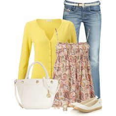 Cute spring outfit or summer & you don't need the cardigan