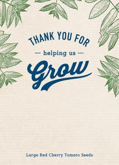 Thank you for helping us grow label friendly packet Appreciation Message, Teacher Appreciation Gifts, Volunteer Appreciation, Teacher Gifts, Gourmet Gift Baskets, Gourmet Gifts, Growing Cherry Tomatoes, Thank You Baskets, Thank You Customers