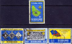 Barbados 1972 Scouts Set Fine Used SG 444 7 Scott 372 5 Other British Commonwealth Empire and Colonial stamps for sale Here