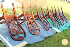 How to spray paint with chalk paint!  Spray Painting Dining Chairs in an afternoon.