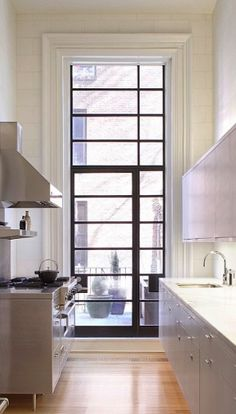 So many readers asked about the metal French door in our Steal This Look: Brooklyn Heights Kitchen post a while back that we thought it our civic duty to provide some sourcing ideas. Steel windows and doors have many advantages: due to the material's strength, steel windows have very slender sight lines, they work well in both traditional and modern houses, and they require minimal upkeep compared with wood windows and doors. Here are four suppliers that come highly recommended by several…