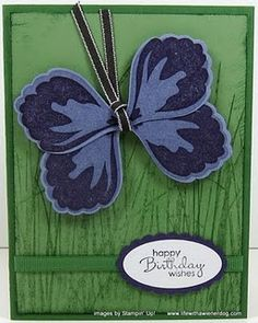 Butterfly out of the Stampin Up Build a Blossom stamp/punch