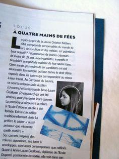 figaro-magazine, julie-auzillon, presse-julie-auzillon, prix-jeune-creation-metiers-arts, julie-auzillon