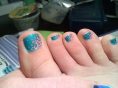 55 Nail Art Ideas- For Your TOES! dots,bubbles,side fade,2-color,toes