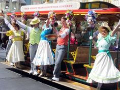 Main Street USA Trolley Show – Spring Edition (Videos) Disney Pics, Disney Pictures, Spring Is Coming, Hello Dolly, Main Street, Thunder, Parks, Sewing Projects, Costumes
