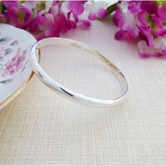 Ladies Engraved Solid Silver Bangle Unique to Guilty Bangles