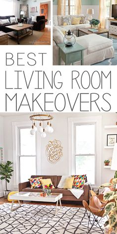 Makeover or upgrade your family room!  Check out these best before and after makeovers!