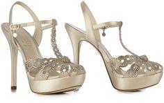 Ivory jewel #sandal with #SWAROVSKY ELEMENTS
