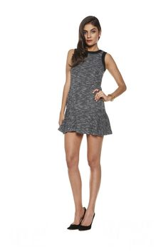 F14KTD0209_AS IF DRESS_MARLED FRENCH TERRY1