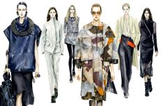 Fashion Illustrator Mengjie Di: Farfetch Commission Watercolor Illustrations