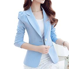 Back To Search Resultswomen's Clothing Cheap Sale New Spring Autumn Blazer Suit Women Korean Slim Show Thin Solid Ladies Blazers Suit Gray Blue Green White Small Suit Work Wear Suits & Sets