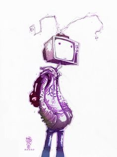 TV HEAD - Lineart by Skottie Young, Colors by Ben Basso