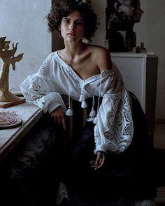 Boho Ukrainian Broderie Anglaise Embroidered Folk White Women's Blouse - Bohemian Style Vyshyvanka / Top/Traditional Outfit . Sizes - XS-4XL