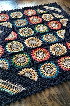 Crochet Wildflower Blanket Pattern
