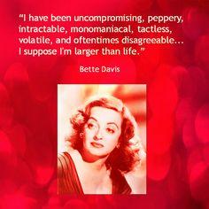 Movie Actor Quotes - Bette Davis - Film Actor Quote   #bettedavis