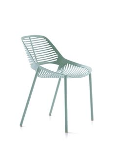 NIWA collection. Chair Light Blue / Sedia Azzurro Pastello. FAST IN_OUT_ALUMINIUM