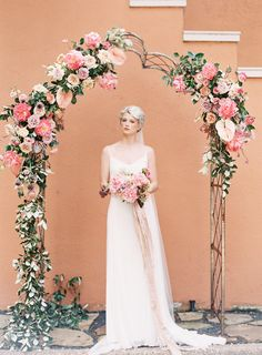 Floral Arch for Wedding - Stone House Creative