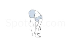 Standing forward bend pose (Uttanasana) instructions, illustration and… Gymnastics Lessons, Yoga For All, Yoga Motivation, Yoga Moves, Meditation Techniques, Mindfulness Practice, Workout Guide, Yoga Sequences, Yoga Flow