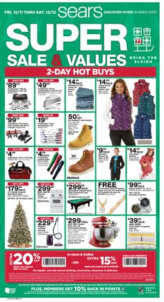 Sears Ad December 11 - 12, 2015 - http://www.olcatalog.com/sports-toys/sears/sears-ad.html