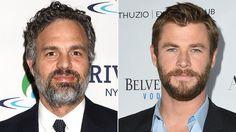 Mark Ruffalo and Chris Hemsworth Took a Hunky Mirror Selfie on the Set of Thor: Ragnarok