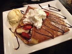 yummm...Nutella, vanilla ice cream, strawberry, and banana crepe