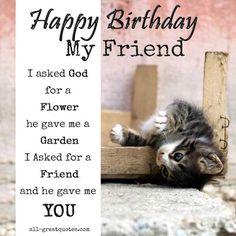 Happy Birthday Card For Friends - Happy Birthday My Friend