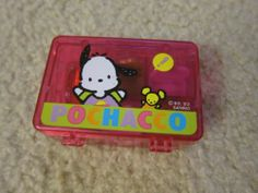 used Sanrio vintage 4 ink stamps pochacco case small 1989 1993 dog Pochacco, Dog Search, Sanrio Characters, Ink Stamps, Goodies, Lunch Box, Childhood, Friends, Dogs