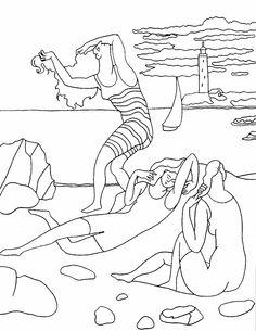 Les baigneuses, P. Picasso