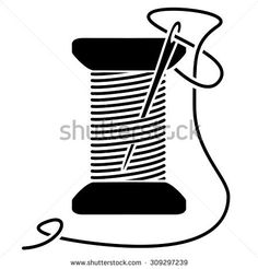 Find Sewing Needle Thread Spool Silhouette stock images in HD and millions of other royalty-free stock photos, illustrations and vectors in the Shutterstock collection. Thread Spools, Needle And Thread, Sewing Clipart, White Sewing Machine, Clip Art Pictures, Tailor Shop, Silhouette Clip Art, Clipart Black And White, Boutique Logo